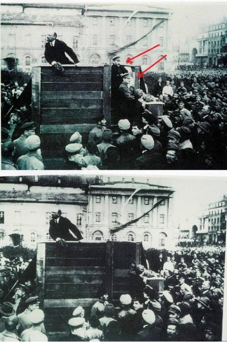 Отретушированное фотография с выступления Владимира Ильича Ленина, 1920 год. | Фото: scisne.net.