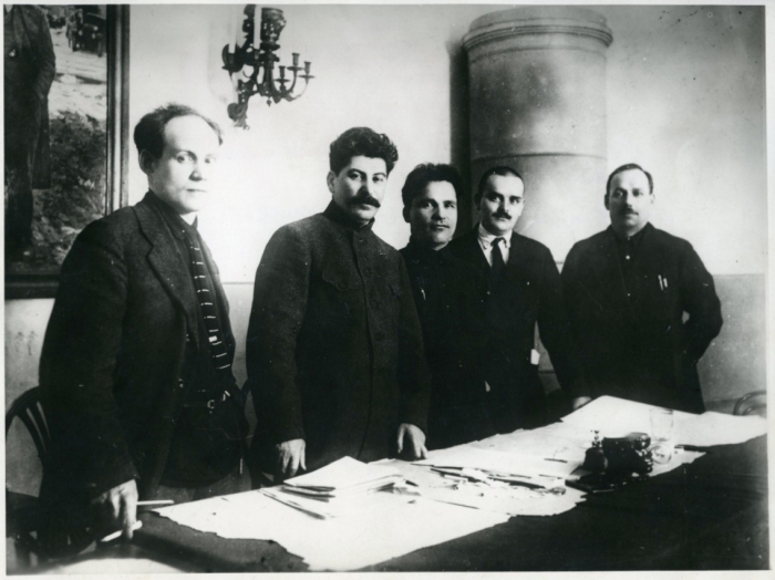Советские лидеры в Ленинграде, 1926 год. | Фото: ru.wikipedia.org.