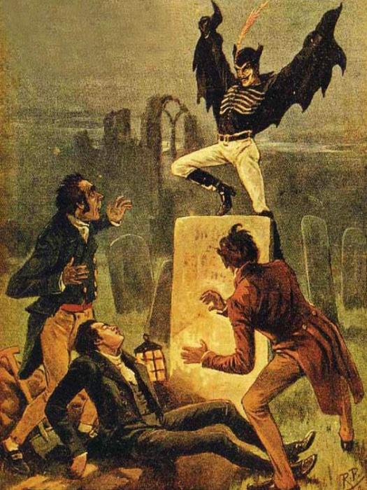 Рисунок Джека-прыгуна в книге комиксов 1890 года. | Фото: pinterest.com.