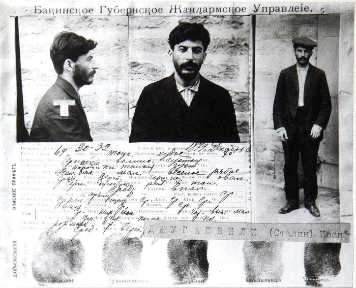 Учетная карточка Иосифа Джугашвили, задержанного в Баку в 1910 году. | Фото: upload.wikimedia.org.