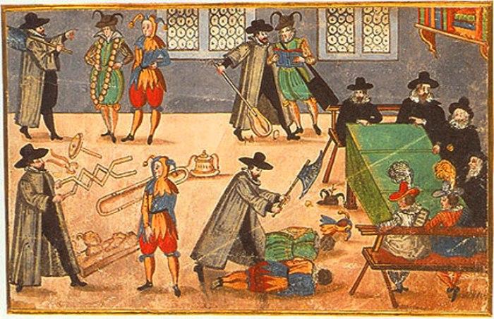 Ритуал посвящения в студенты в Уппсальском университете, Швеция. XVII век. | Фото: uu.se.