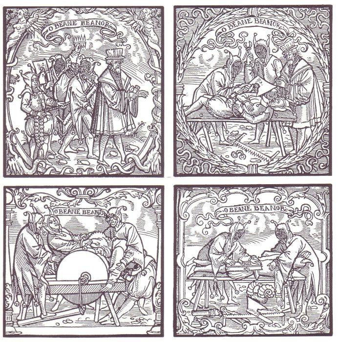 Ритуал инициации в студенты. Резьба по дереву, XVI в. | Фото: en.wikipedia.org.