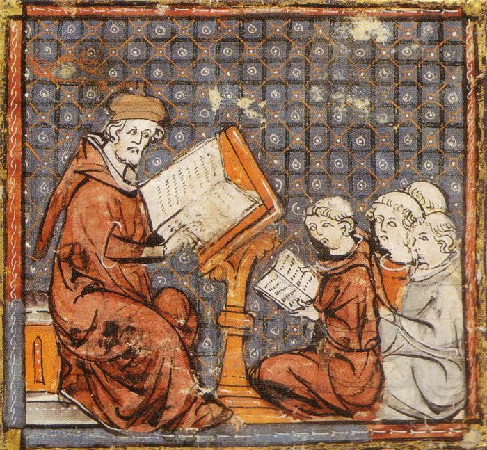 Студенты в Париже, кон. XIV века. | Фото: commons.wikimedia.org.