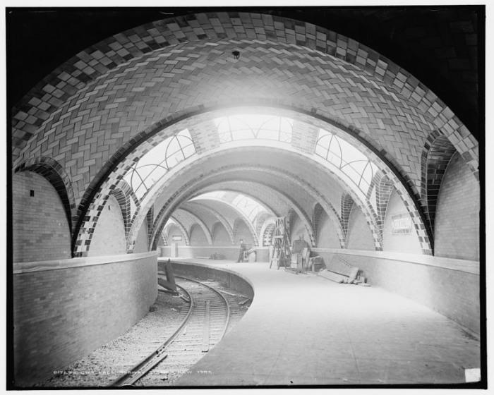 Станция метро City Hall была открыта в октябре 1904 года, Нью-Йорк. | Фото: loc.gov.
