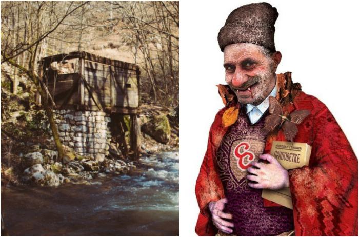 Первый европейский вампир Сава Саванович возле своей обители. | Фото: iostream.info и mondo.rs.