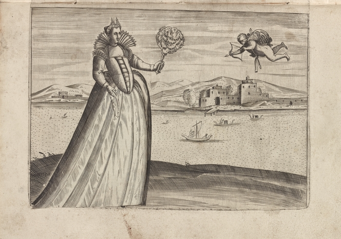 Знатная женщина прогуливается по Венеции. | Фото: digitalcollections.nypl.org.