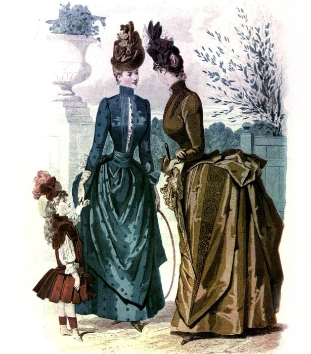 Европейские модницы, 1887 год. | Фото: pinterest.com.