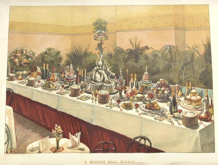 «Современный шведский стол». | Фото: nyamcenterforhistory.org.
