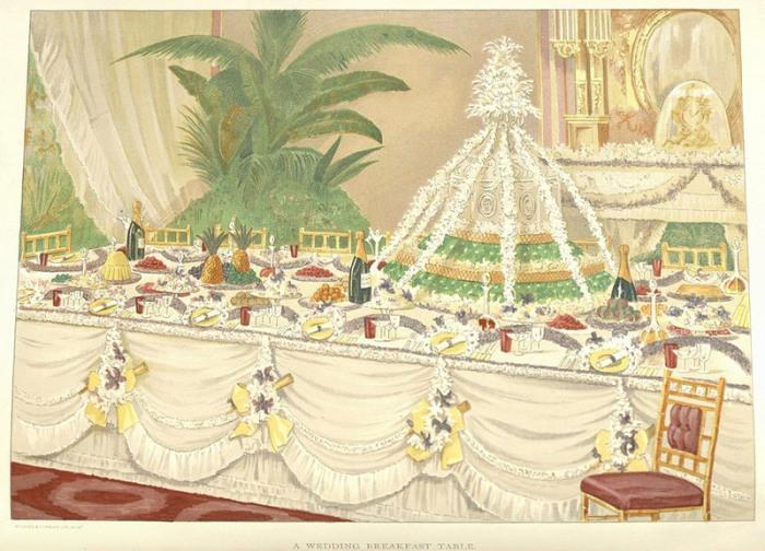 Стол для свадебного завтрака. | Фото: nyamcenterforhistory.org.