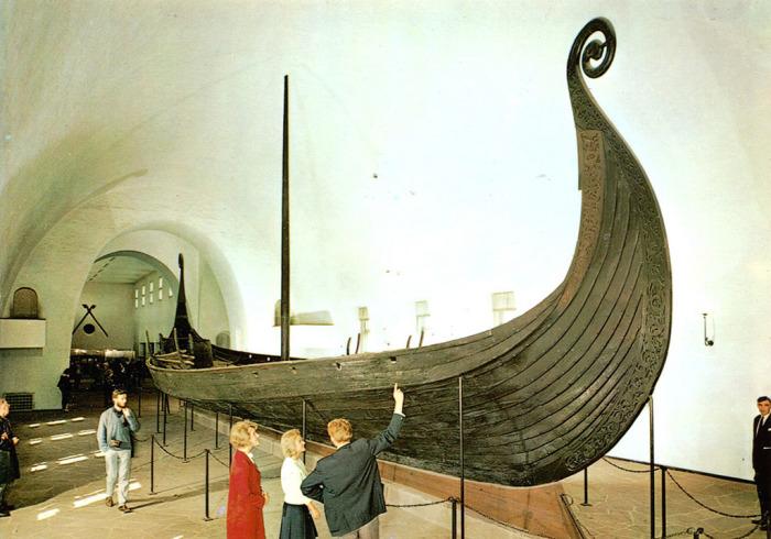 Осебергский корабль в Музее драккаров в Осло. | Фото: flickr.com.