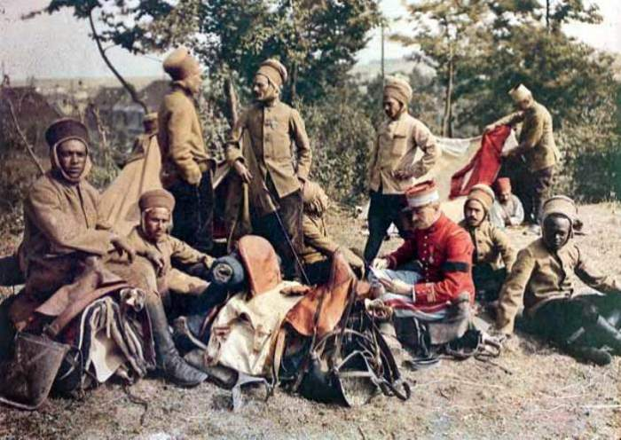 Африканские солдаты на Западном фронте. | Фото: greatwar.nl.
