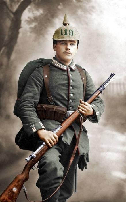 Молодой солдат 116-го гренадерского вюртембергского полка. | Фото: ddoughty.com.