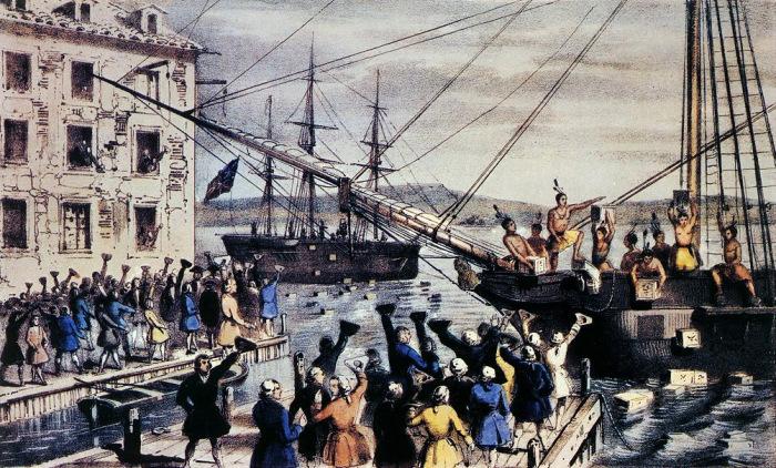Бостонское чаепитие – начало Американской революции, 1773 год. | Фото: latinamericanstudies.org.