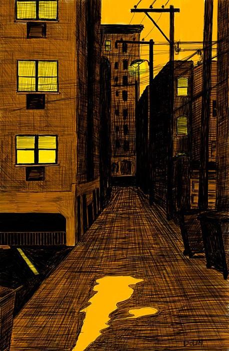 Вечерняя улица.