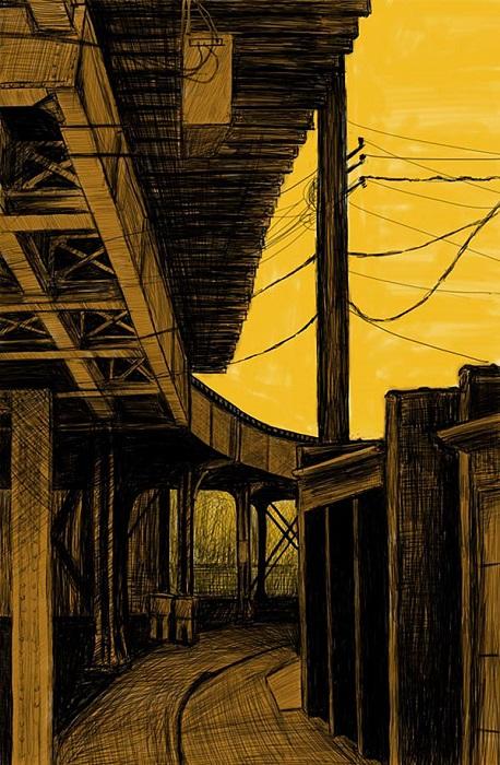 Дорога под мостом не обделена вниманием.