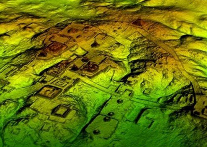 Древнее сооружение: археология Майя.