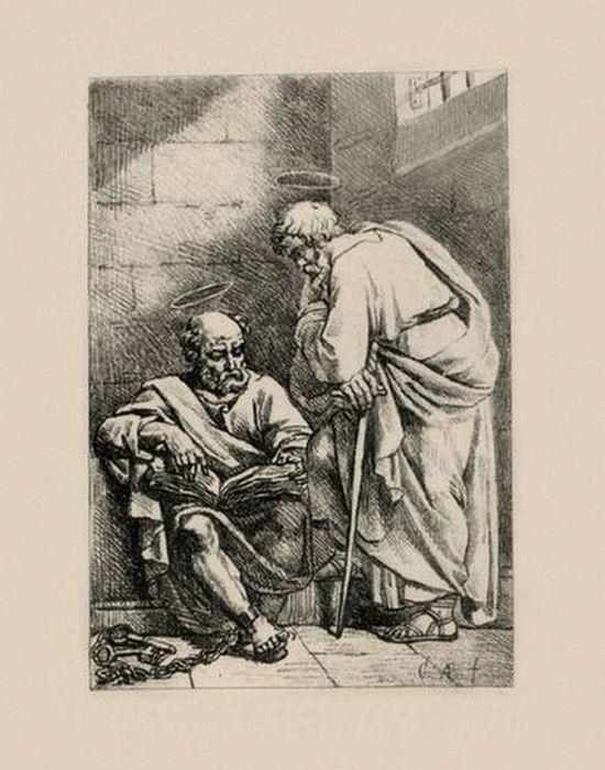 Эскиз «Апостолы Пётр и Павел»./ Фото: acmus.ru