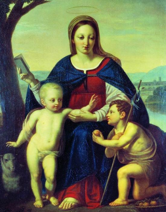 «Богоматерь с младенцем Христом и Иоанном Крестителем»./ Фото: zdravrussia.ru
