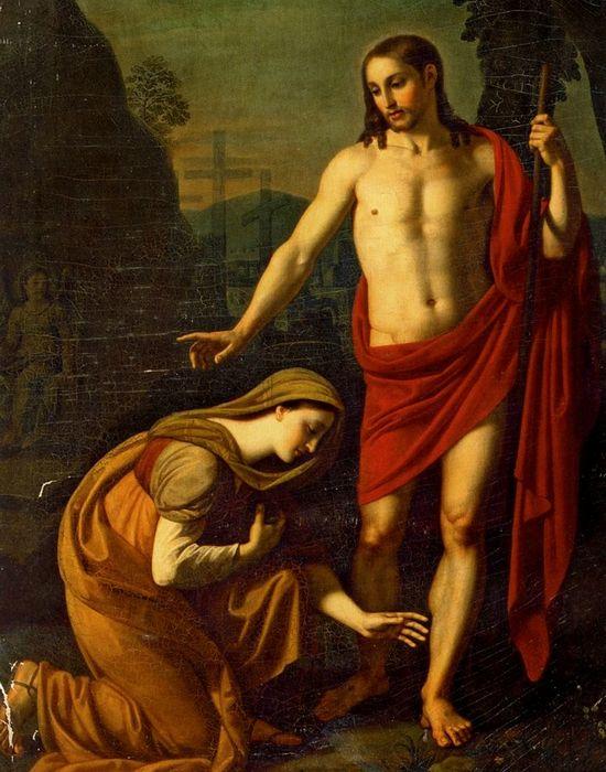 Фрагмент картины «Явление Христа Марии Магдалине»./ Фото: artchive.ru