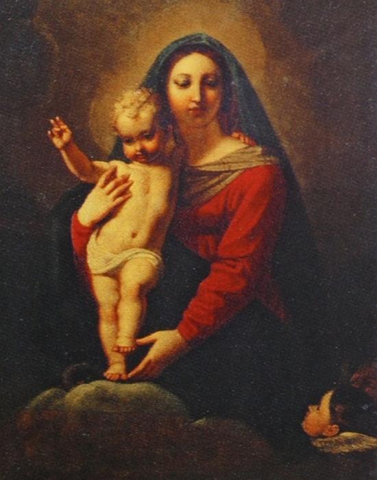 Фрагмент картины «Богоматерь с Младенцем»./ Фото: cultobzor.ru