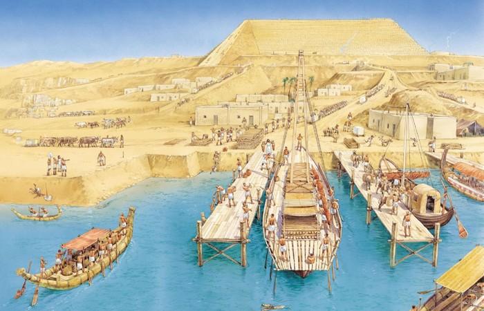 Древний Египет: водные каналы Гизы.