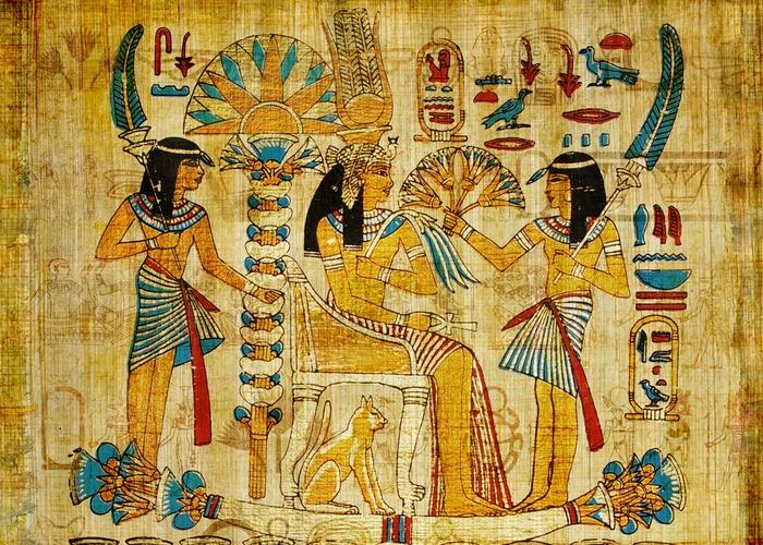 Папирус с древней лодкой./ Фото: t.teos.fm