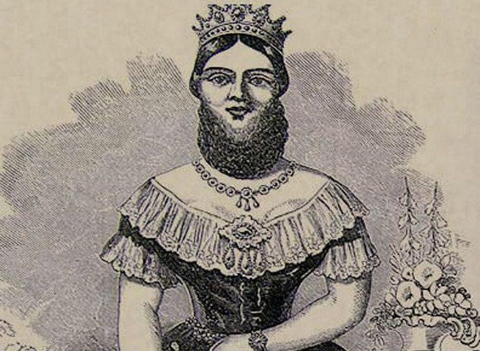 Бородатая женщина Жозефина Клофулия.