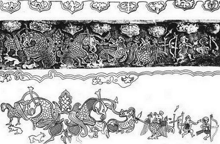 Рисунки фриз ритонов.