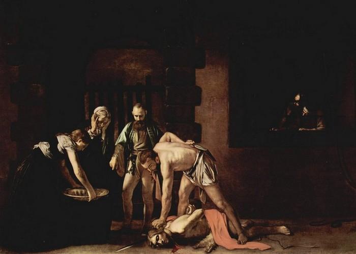 Фрагмент картины «Усекновения главы Святого Иоанна Крестителя», 1608 год.