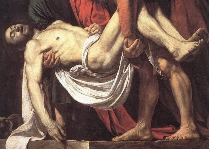 Фрагмент картины «Положение во гроб», 1602-1603 годы.