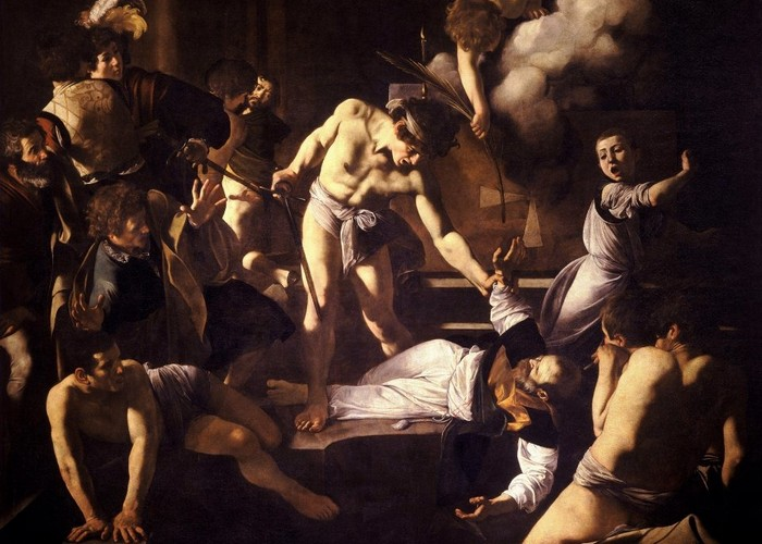 Фрагмент картины «Мученичество Святого Матфея», 1600 год.