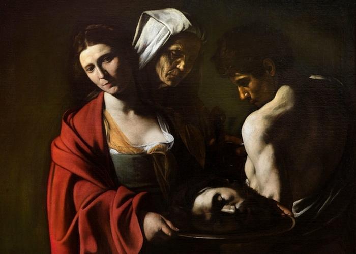 Фрагмент картины «Саломея с головой Иоанна Крестителя», 1609 год.