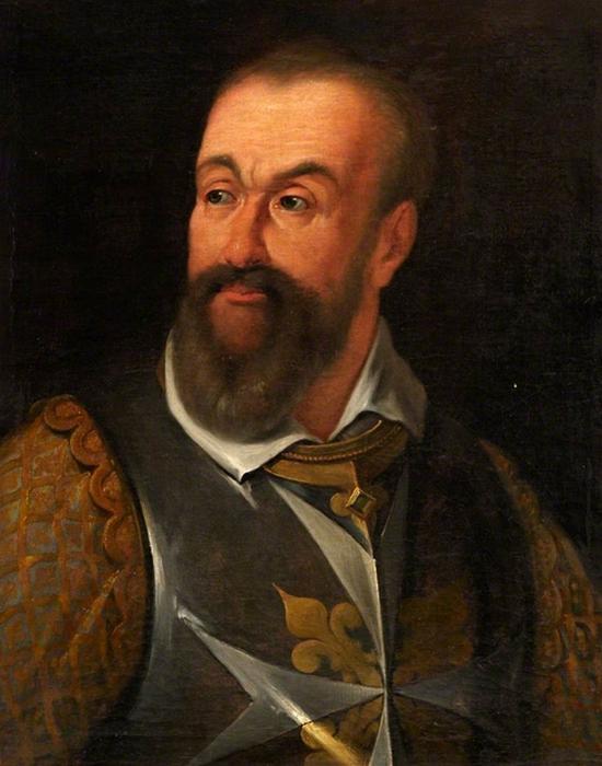 Фрагмент картины «Алоф де Виньякур», 1608 год.