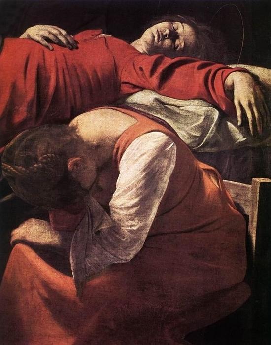 Фрагмент картины «Смерть девы Марии», 1606 год.