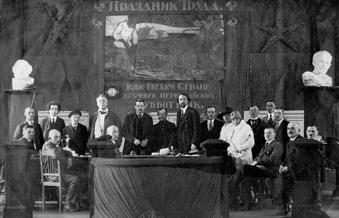 Президиум собрания, посвященного празднованию 1 Мая./ Фото: tayni.info