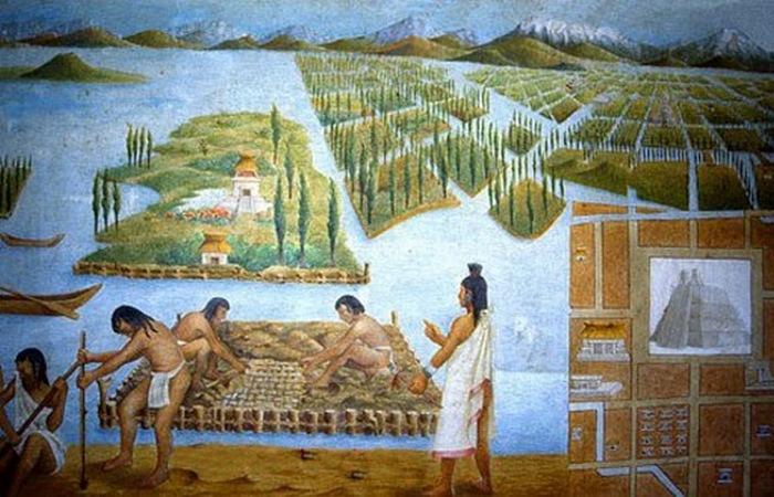 Плавающие сады ацтеков./ Фото: flytothesky.ru