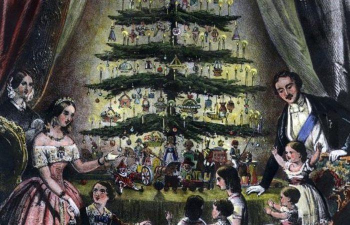 Рождественская открытка от королевы Виктории.
