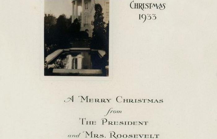 Рождественская открытка от Франклина Рузвельта.