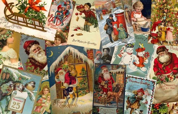 Рождественские открытки...