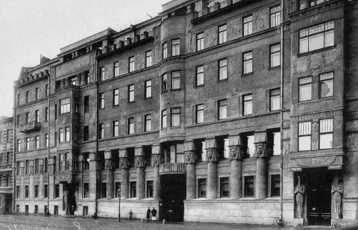 «Египетский дом» на Захарьевской 23 в Санкт-Петербурге, фото 1910-х гг.