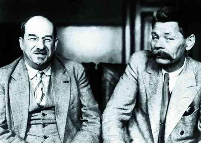 Анатолий Луначарскиий и Максим Горький./ Фото: russlovo.today