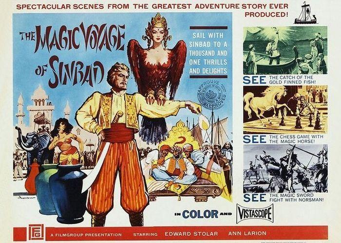 Афиша фильма «Волшебые приключения Синбада» (США)./ Фото: whatculture.com