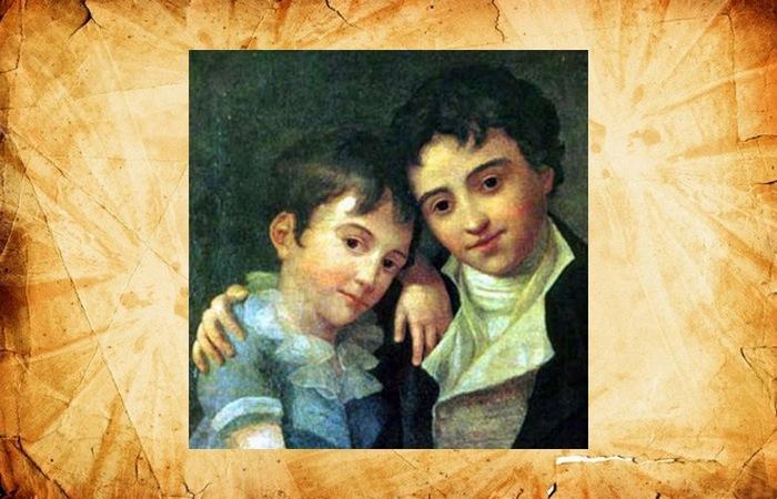 Братья Франц Ксавер Вольфганг и Карл Томас в детстве.