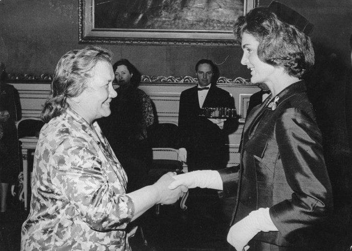 Нина Хрущёва и Жаклин Кеннеди.