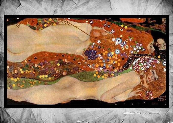 Фрагмент картины Густава Климта «Водяные змеи II», 1904-1907 годы.