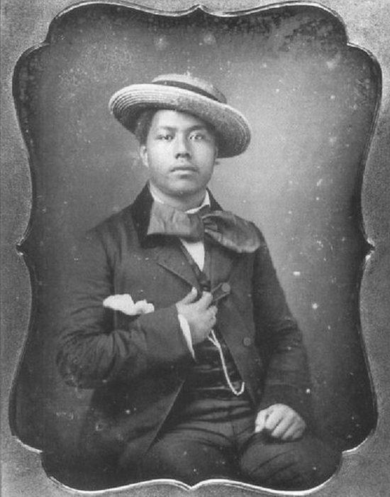Калакауа в юности, примерно 1850 год.