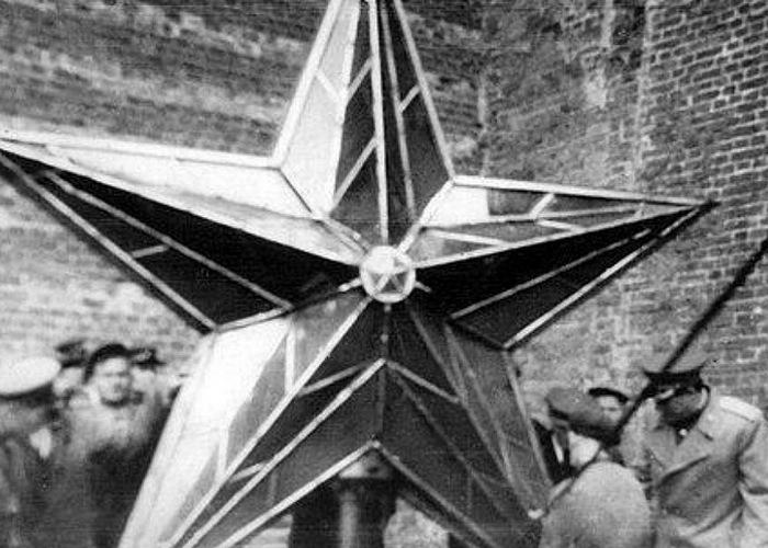 Подготовка к подъему современной звезды./ Фото: tvtm.ru