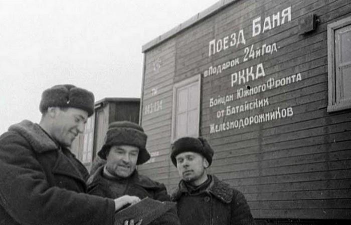 38-й банно-прачечный дезинфекционный поезд./ Фото: tayni.info