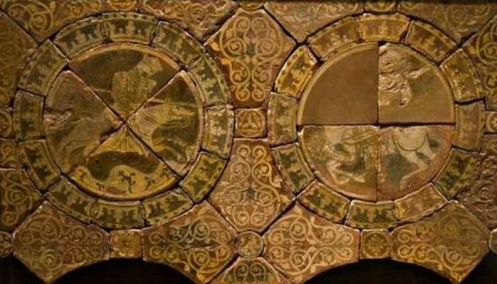Изображение Ричарда (слева) и Саладина (справа), примерно 1250-1260 годы.