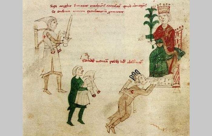 Изображение Ричарда, помилованного императором Священной Римской империи Генрихом VI, примерно 1196 год.